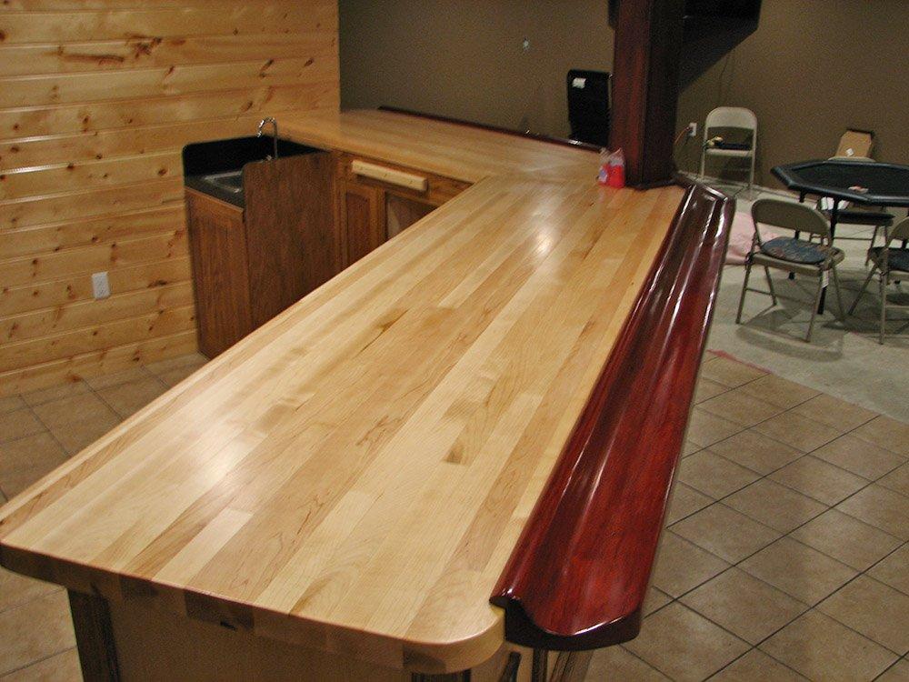 Maple Top, Cherry Arm Rest, Oak/Maple Base
